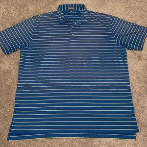 Peter Millar Summer Comfort Striped Golf Polo XXL